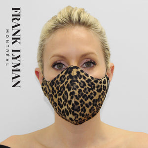 Unisex Adult Masks (Set of 2 in Small Leopard Print)