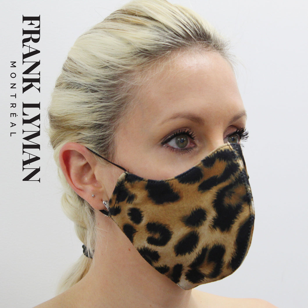 Unisex Adult Masks (Set of 2 in Big Leopard Print)