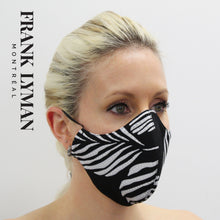 Load image into Gallery viewer, Unisex Adult Mask in Black White Print