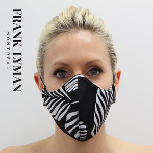 Unisex Adult Masks (Set of 2 in Black White Print)