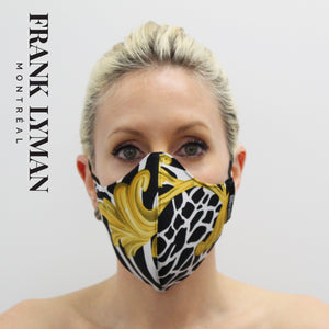 Unisex Adult Masks (Set of 2 in Yellow Black Print)
