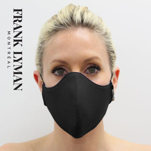 Unisex Adult Masks (Set of 2 in Black Solid Color)