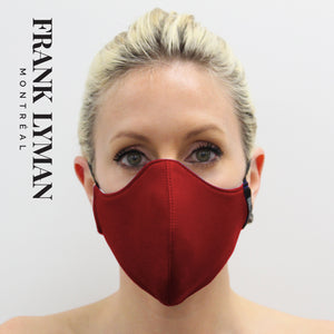 Unisex Adult Masks (Set of 2 in Red Solid Color)