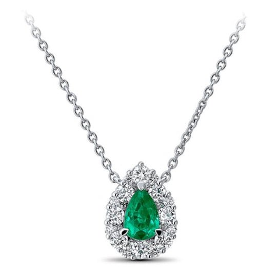 emerald pear-shaped necklace