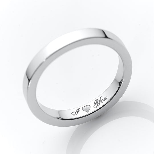 wedding band engraved with