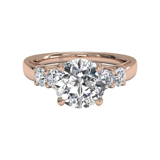 rose gold five stone engagement ring