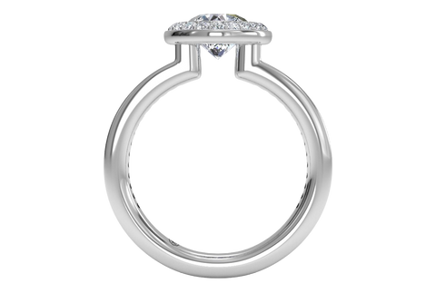side of halo engagement ring