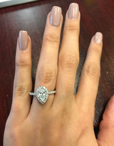 wearing a pear engagement ring upside down