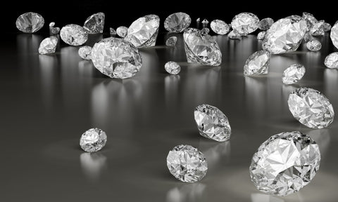 Loose diamonds that have been cut and polished