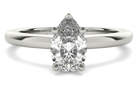 Solitaire Pear Diamond Engagement Ring