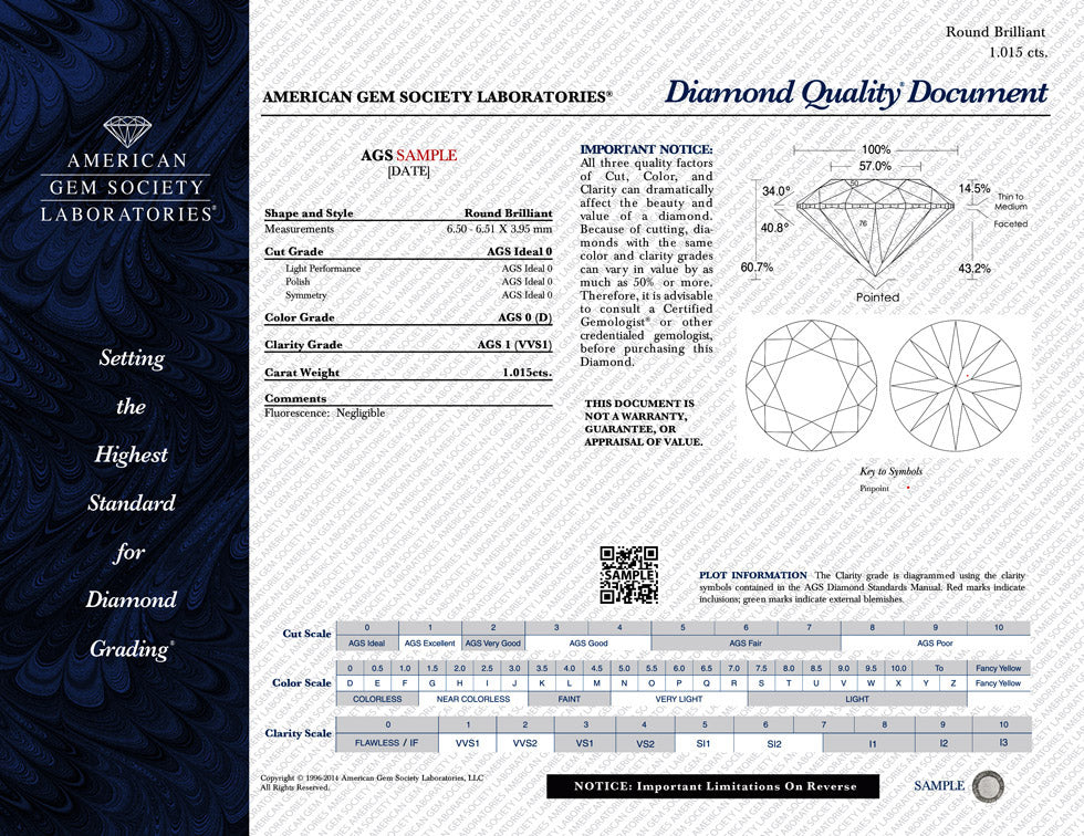 AGSL diamond grading report