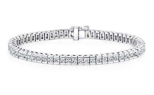 Channel-set diamond tennis bracelet