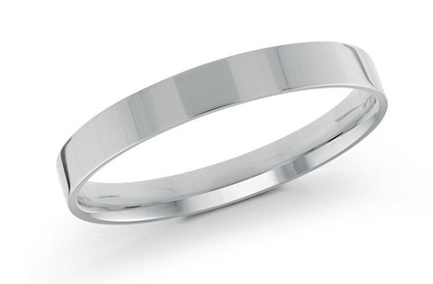 square edge wedding ring