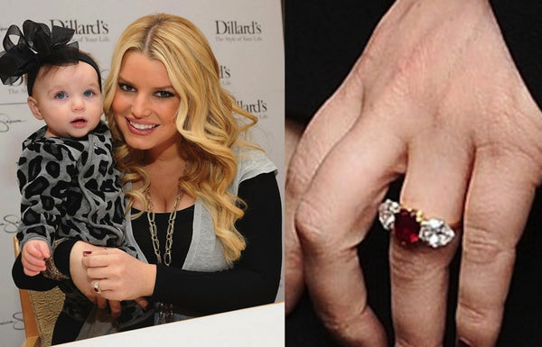 Jessica Simpson's ruby and diamond engagement ring