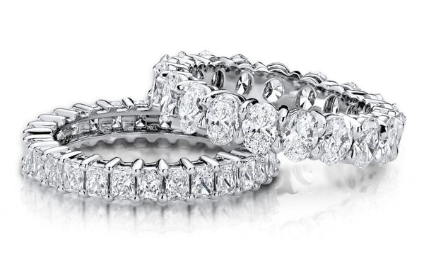 Princess cut and oval cut eternity ring