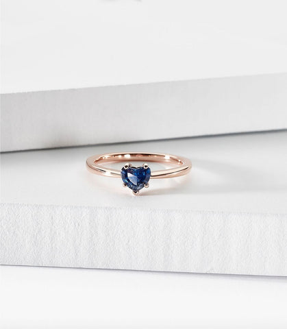 sapphire heart-shaped engagement ring