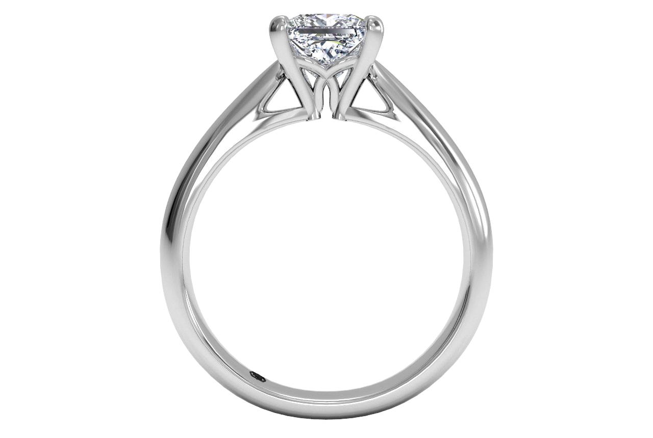 14kt white gold/princess/front