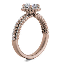18kt Rose Gold / Round / Front