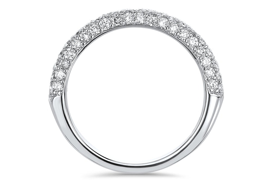 Masterwork Three Row Pavé Wedding Ring