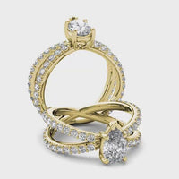 18kt Yellow Gold/pear