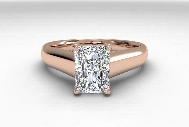 18kt Rose Gold/radiant