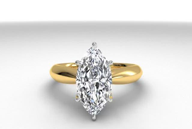 18kt Yellow Gold/marquise