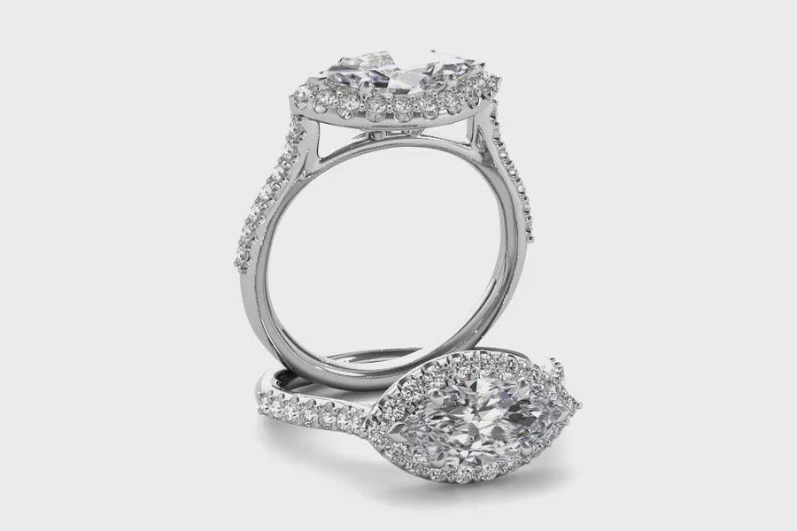 14kt White Gold/marquise