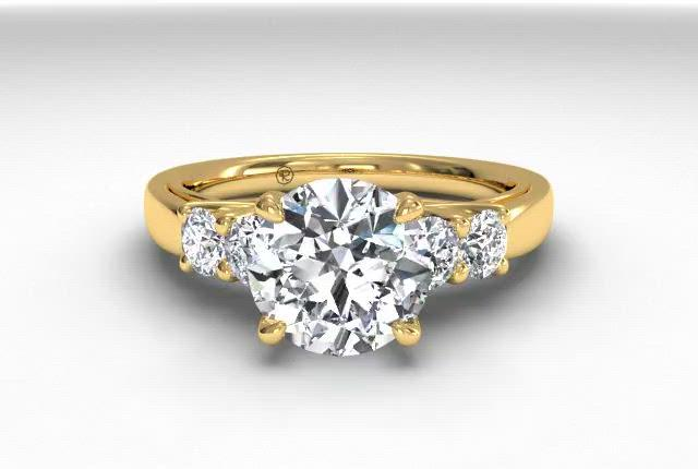 18kt Yellow Gold/round
