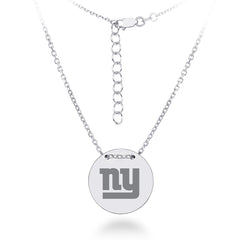 Sterling Silver New York Giants Charm Necklace