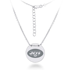 Sterling Silver New York Jets Charm Necklace