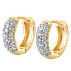0.25 CTW 10kt Yellow Gold Diamond Huggie Earrings