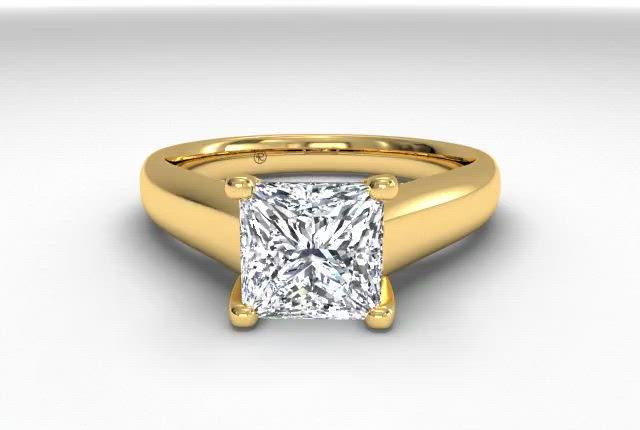 18kt Yellow Gold/princess