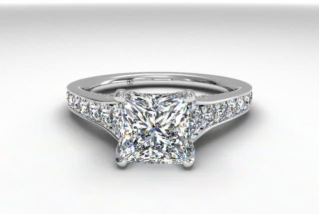 14kt White Gold/princess