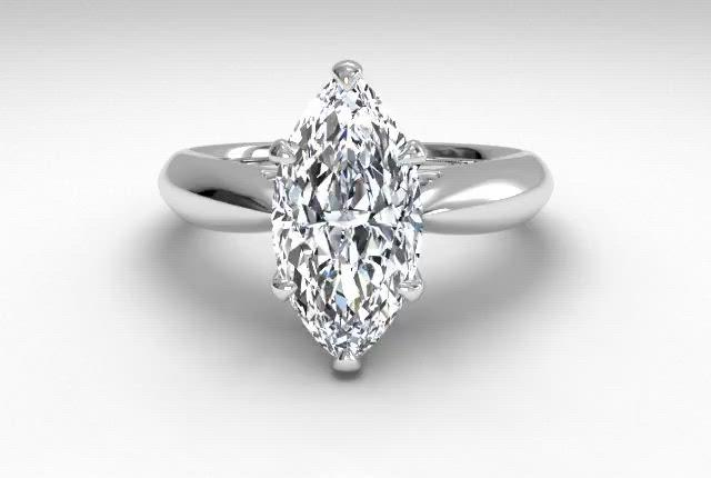 18kt White Gold/marquise