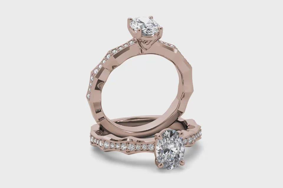 18kt Rose Gold/oval