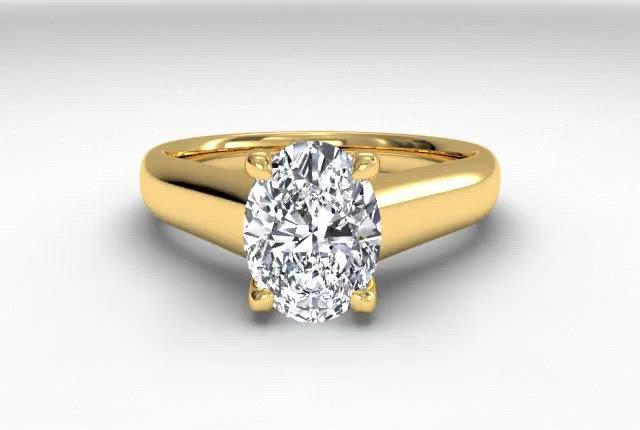 18kt Yellow Gold/oval