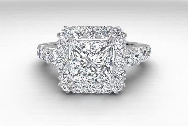 18kt White Gold/princess