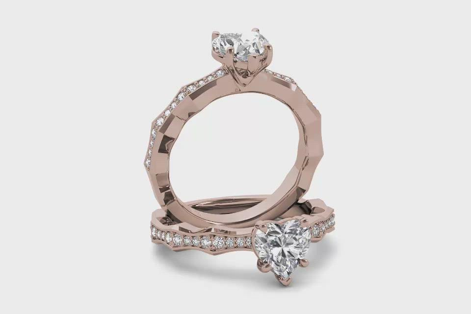 18kt Rose Gold/heart