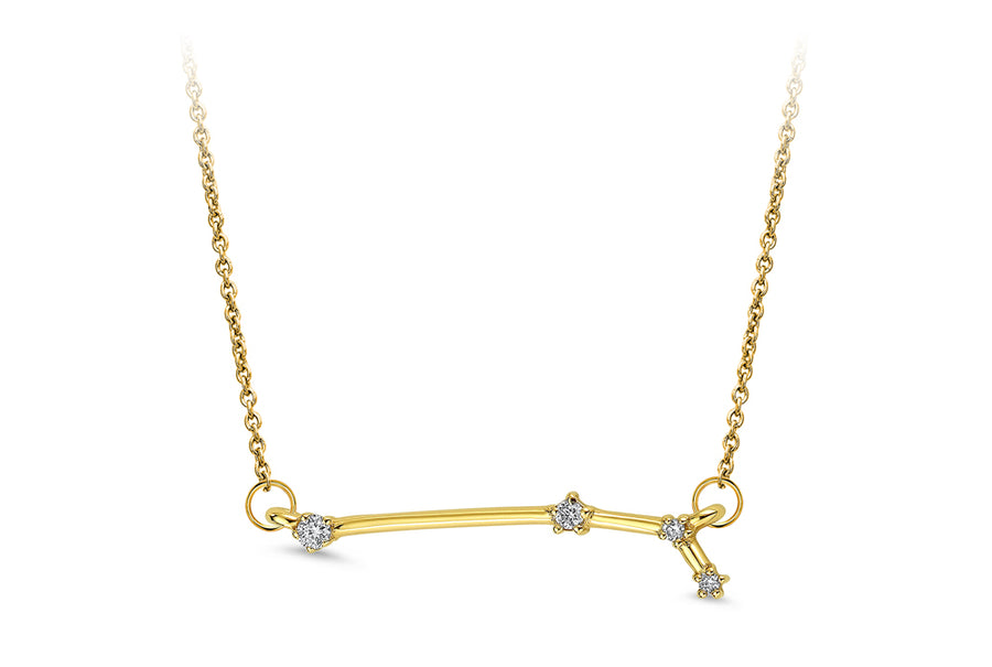 14kt Yellow Gold/Aries/front