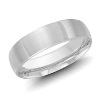 14kt White Gold/6 mm/front
