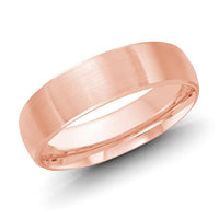 18kt Rose Gold/6 mm/front