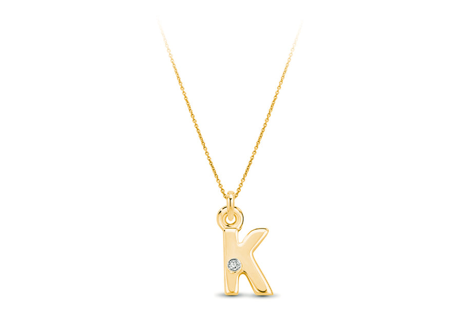 14kt Yellow Gold/K/front