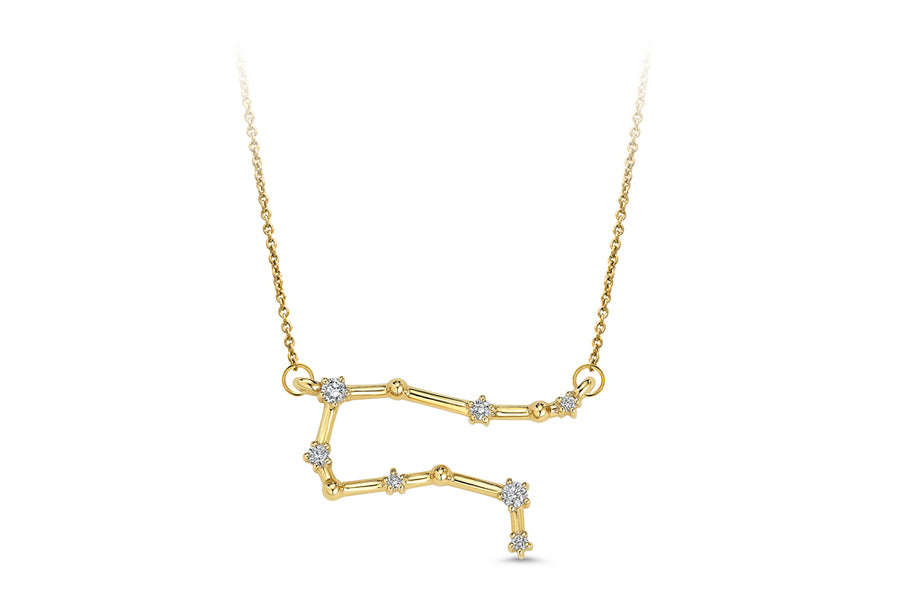 14kt Yellow Gold/Gemini/front