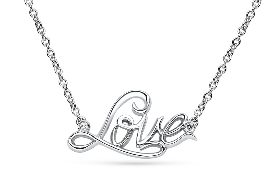 14kt White Gold/Love/front