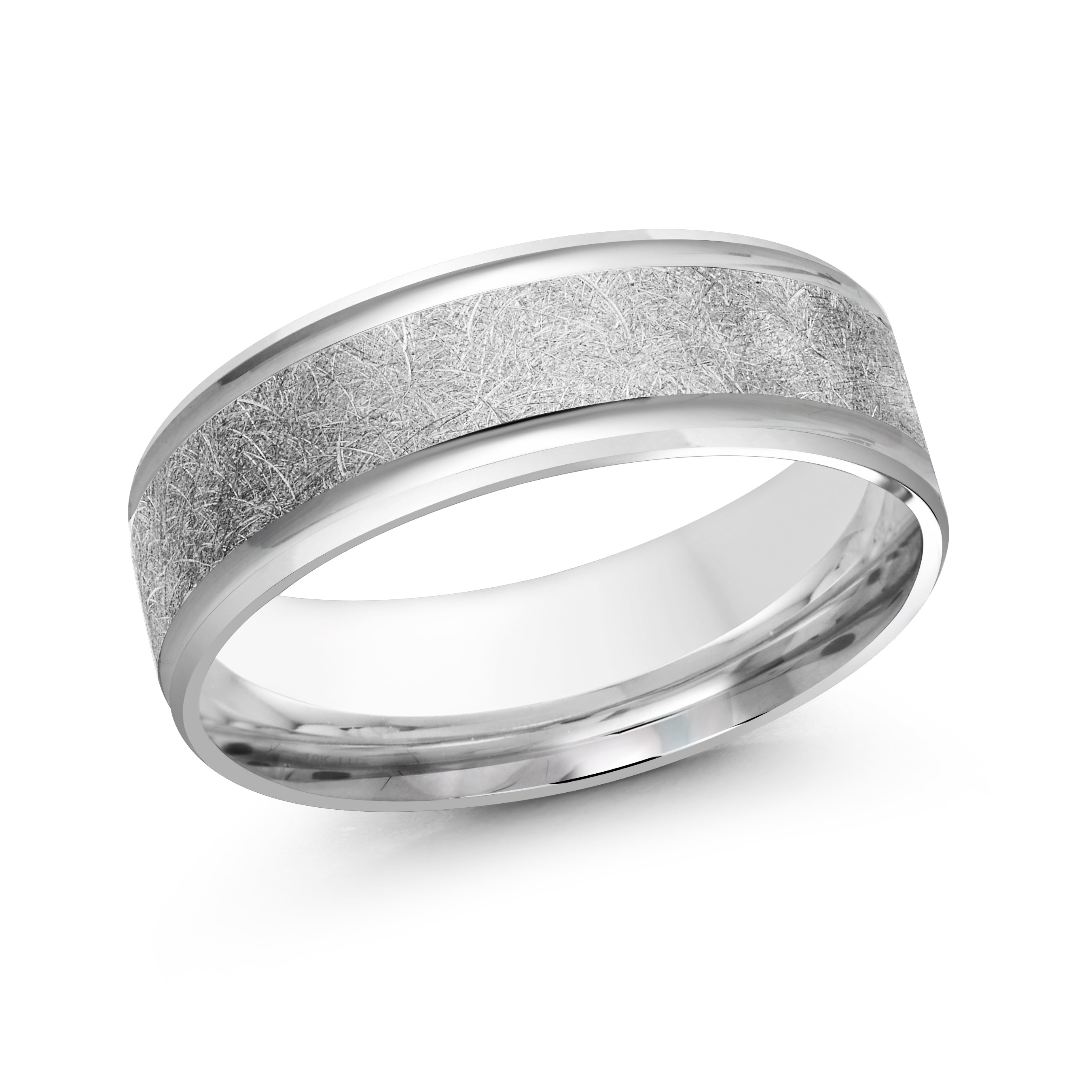 14kt White Gold/7 mm/front
