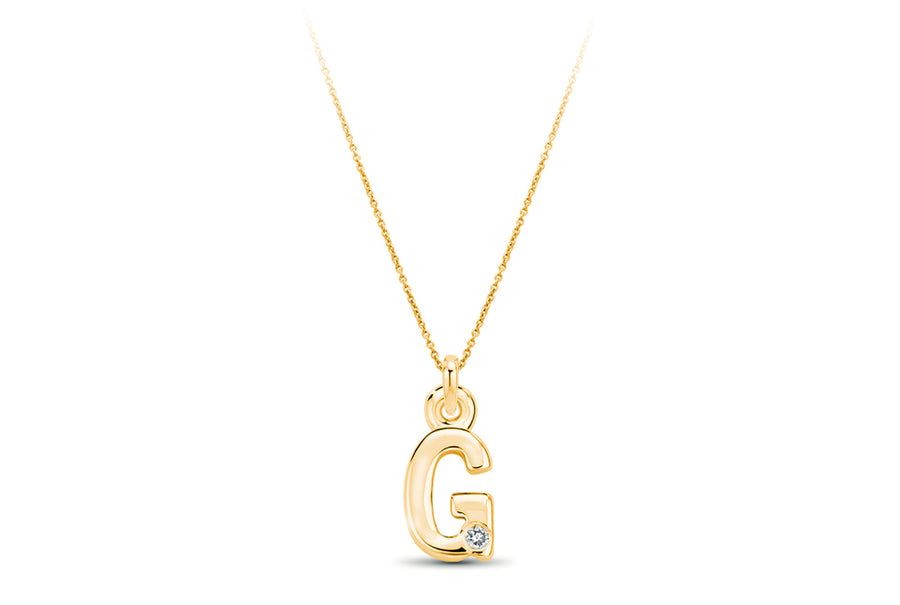14kt Yellow Gold/G/front