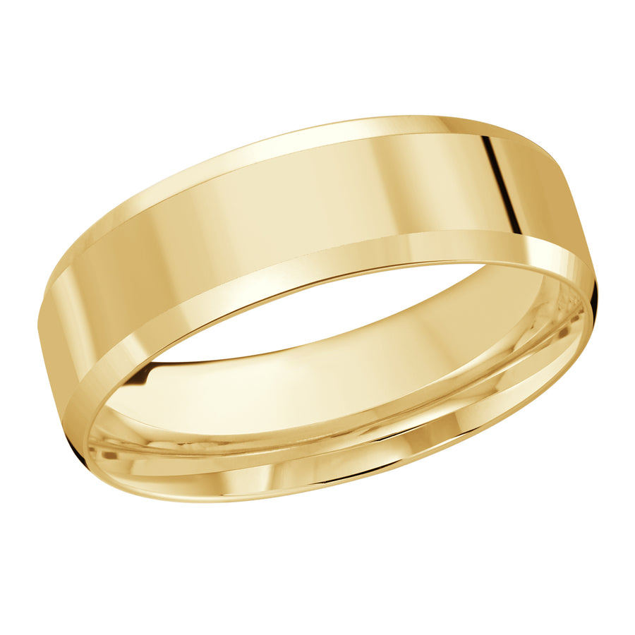 14kt Yellow Gold/7 mm/front