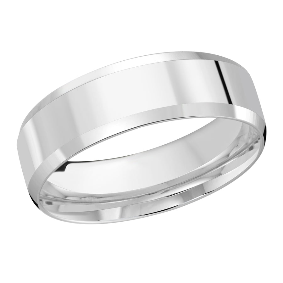 18kt White Gold/7 mm/front
