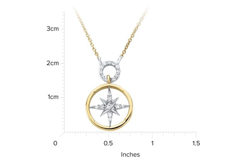 18kt Yellow Gold/measurement