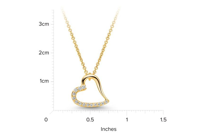 14kt Yellow Gold/measurement
